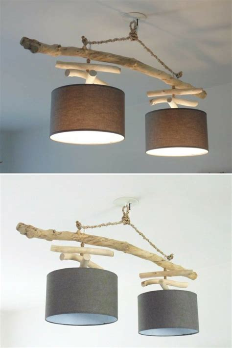 driftwood chandelier  double lights id lights