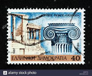 greek postage stamps stock photos greek postage stamps With greek letter stamps