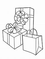 Coloring Gift Colouring Coloringhome sketch template