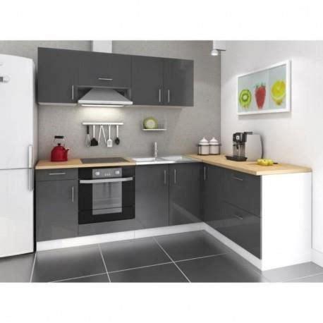 poubelle d angle cuisine cuisine d 39 angle laqué gris réversible 240x160 cm achat