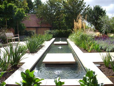 water rill design suffolk contemporary courtyard garden shoot