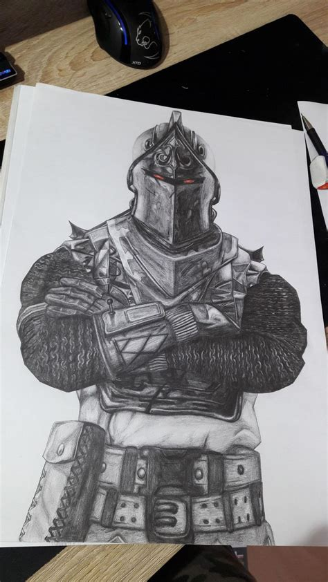black knight fortnite drawing    cm knight drawing