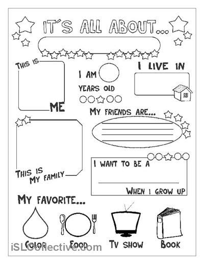 25 ideas about all about me worksheet on