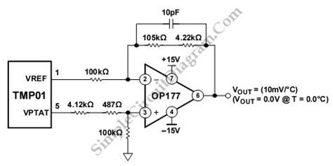 Tmp Celsius Scale Temperature Sensor Simple Circuit
