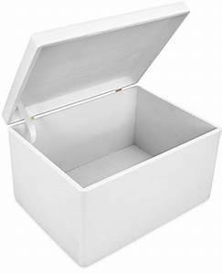 Holzkiste Weiß Mit Deckel : grinscard fsc zertifiziert kiefer wei lackiert ca 40 x 30 x 24 cm gro e holzkiste mit ~ Bigdaddyawards.com Haus und Dekorationen