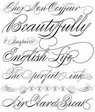 Fancy Cursive Tattoo Letters Fonts
