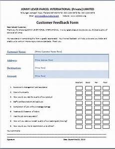 Biodata Form Sample The Customer Feedback Form Is A Written Document Or Tool