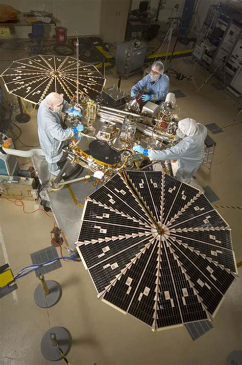 space images phoenix mars lander  solar arrays open