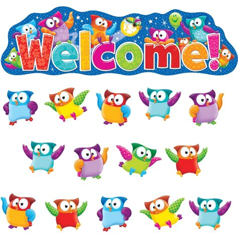 Product Of The Week An Interactive Owl Shaped Security by Trend Owl Welcom Bulletin Board Set 1 36