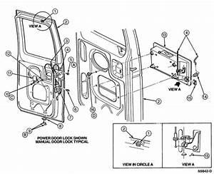 Ford E250 1996 Cargo Van Cargo Doors Wont Open   E Clip