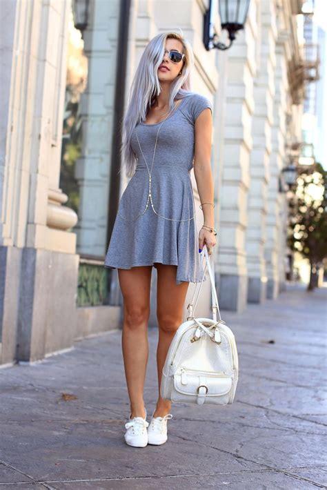 wear dresses skirts  sneakers  rich