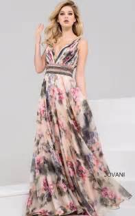 Jovani Dresses | Womens Multi Floral Maxi Dress | Womens ...