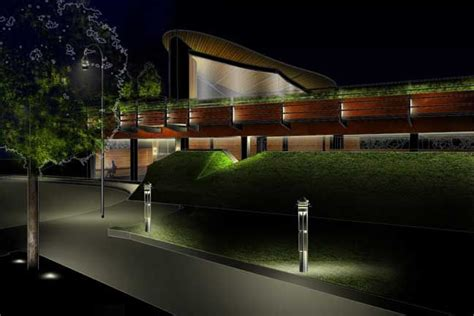 exterior for maggie s centre newcastle jr lighting