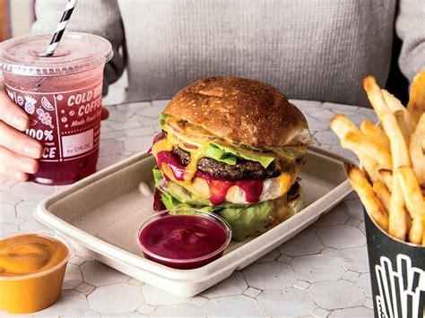 Double Drive Thru Veggie Burgers Recipe   Chloe Coscarelli