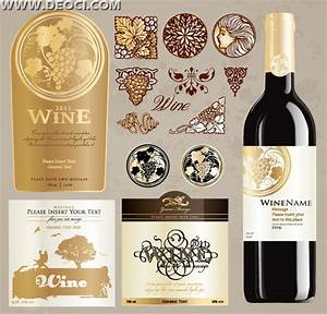 vintage wine label collection bottle packaging design With create wine labels online