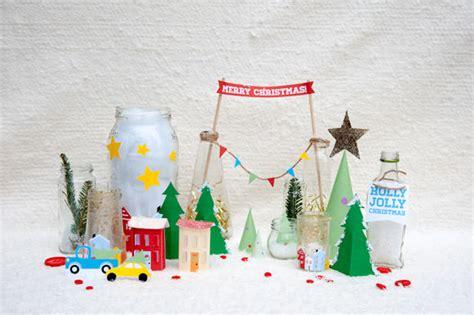 printable tabletop holiday village handmade charlotte