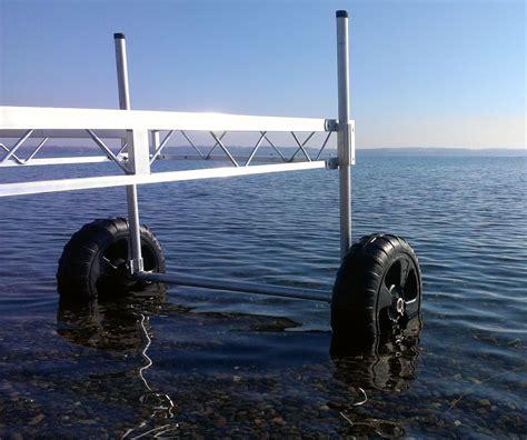 Floating Boat Dock Wheels by Roll In Dock Wheel Kits Roll In Docks Dock Wheels