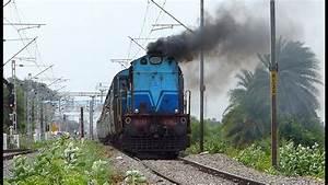 Diesel Locomotive Chugs Through Rural India   Indian