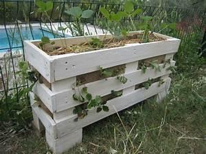 Jardinière En Hauteur : des jardini res pour les fraises en r cup de palettes ~ Nature-et-papiers.com Idées de Décoration