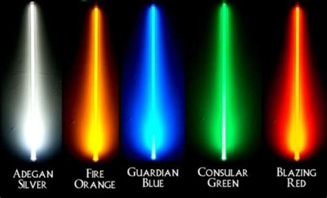 how many lightsaber colors are there lightsaber colors the rebelibrarian