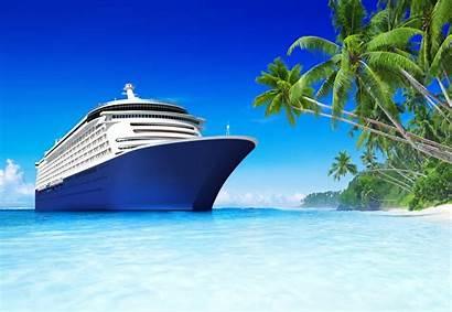 Ship Cruise Beach Tropical Sea Palm Tropics