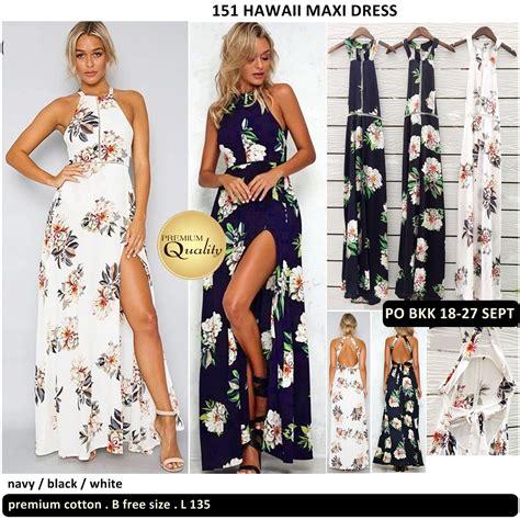 dress import baju bangkok hawaii maxi dress supplier baju bangkok korea dan