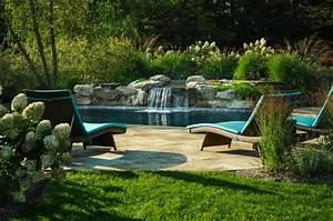 Jardin Avec Bassin : bassin avec cascade en pierre ~ Melissatoandfro.com Idées de Décoration