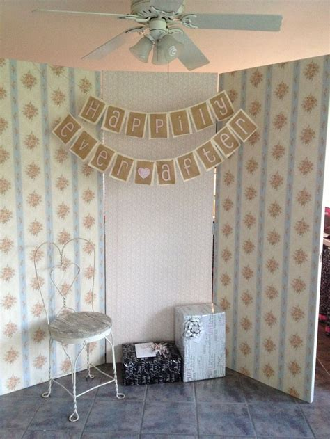 Old Doors Hinged Together With Vintage Wallpaper For A