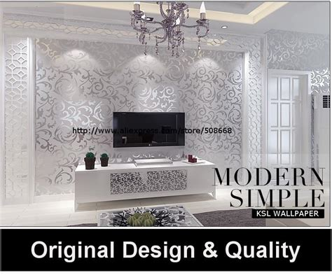 genuine victorian glitter wallpaper silver background wall wallpaper pvc roll wall papers home