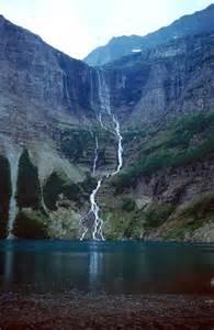 Lake Glacier National Park Waterfalls