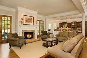 Contemporary open floor plan living room contemporary with