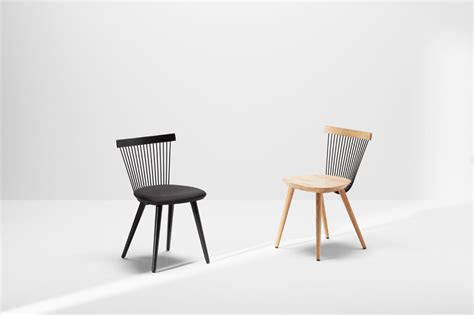A Modern Windsor Chair Made With Wire