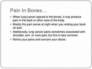 Early lung cancer symptoms  Shoulder Pain Bone tumors