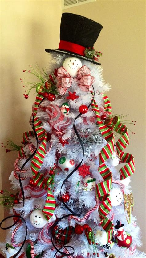 christmas tree themes snowman christmas pinterest
