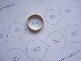 Ring Sizing Template by Guide To Jewelry Sizes My Jewelry Sizing Sheet