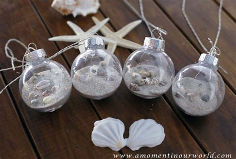 diy beach themed christmas ornaments a moment in our world