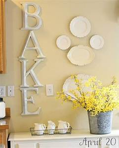 diy letters and plates for kitchen maybe i39ll do this With cook letters for kitchen