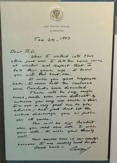 bush letter to obama letter george h w bush left for bill clinton goes viral 47566