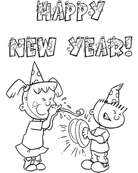 happy new year coloring pages free happy new year colouring pages for