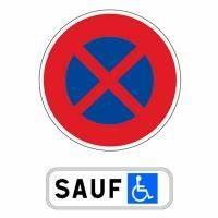 Panneau Stationnement Handicapé : kit panneaux de stationnement pour handicap s 650mm panneau panonceau signalisation routier ~ Medecine-chirurgie-esthetiques.com Avis de Voitures