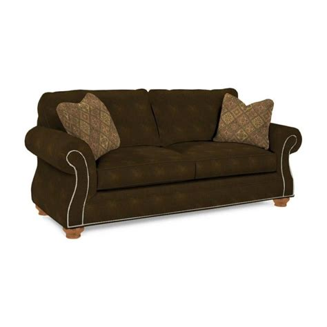 broyhill laramie sofa chocolate broyhill laramie brown goodnight sleeper sofa in
