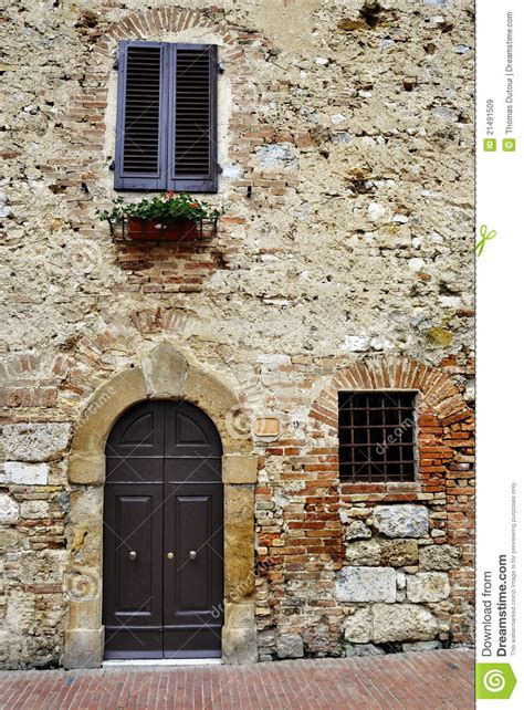 in italian old italian house stock image image of rustic blind 21491509