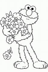 Coloring Elmo Pages Printable Popular sketch template