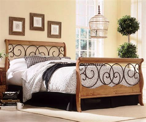 wood and wrought iron bedroom furniture fashion bed dunhill wood metal bed b91d04
