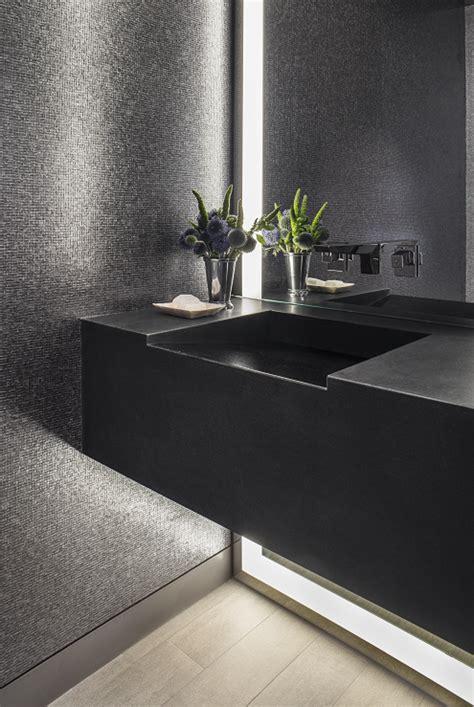 interior bathroom matte black silver mirror