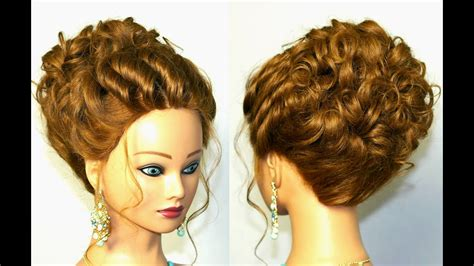 Wedding For Medium Hair : Wedding Hairstyle For Medium Long Hair. Romantic Updo