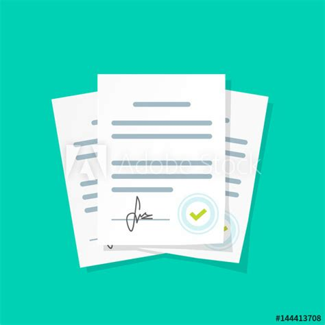 contract documents pile vector illustration flat cartoon