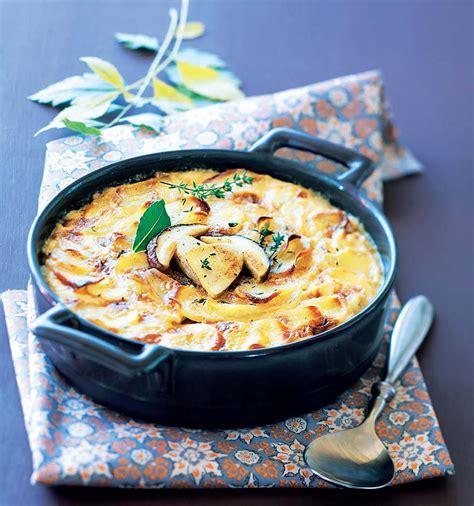 gratin dauphinois hervé cuisine recette gratin dauphinois aux cèpes