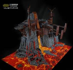 lego fans builds the star wars lava world of mustafar