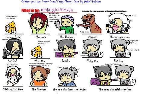 Create Your Own Meme Comic - create your own team meme by ninjagiraffes234 on deviantart